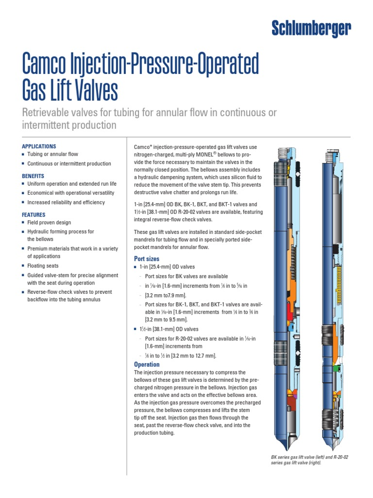 Ipo and ppo gas lift valves