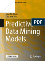 [Computational Risk Management] David L. Olson, Desheng Wu (Auth.) - Predictive Data Mining Models (2017, Springer Singapore)