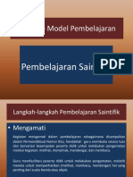 4. Model – Model Pembelajaran Saintifik