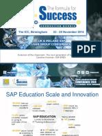 Evolution of the Classroom the Next Generation of SAP Education Caroline Kinsman