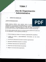 T7 Sistema de Organizacion Administrativa
