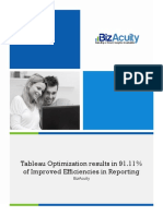 Tableau Optimization results in 91.11% of Improved Efficiencies in Reporting