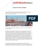 Are Mosques Essential for India's Muslims