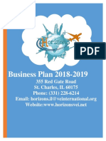 business plan horizon hotels