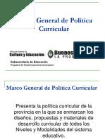 MARCO CURRICULAR - El Discurso de La Política