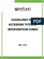 Guideline for Tetfund