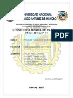1. Informe Visita Tecnica Cañon Del Pato - Tunel N_ 11