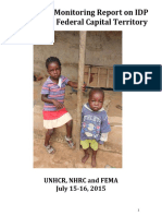Protection Monitoring Report on Idp Sites in f Ct