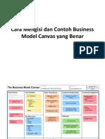 Cara Mengisi Dan Contoh Business Model Canvas Yang