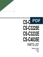 Plcsc2525e Csc3225e Csc3232e Csc4035e Parts