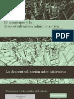 El Municipio y La Descentralización Administrativa (1)