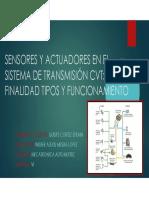 Sensores y Actuadores en El Sistema de Transmisión Quispe Cortez PDF