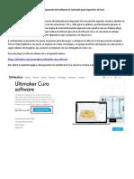 Manual de Configuración Del Software de Laminado Para Impresión 3d Cura