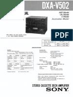 Sony Dxa-V502 Sm