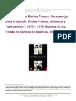 Reseña Marina Franco , Un enemigo para la nacion.pdf