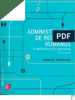 Administración de recursos humanos - El capital humano de las organizaciones