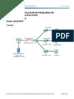 7.3.2.9 Solucion de Problemas de Direccionamiento IPv4 y IPv6