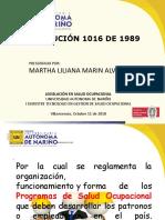 RES 1016 DE 1989 UNI