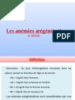 Les Anémies Arégénératives -1
