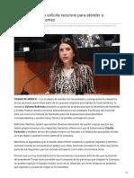 01/Noviembre/2018 Sylvana Beltrones solicita recursos para atender a caravana de migrantes