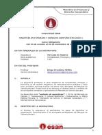 Silabo - Peschiera, Diego - Mercado de Valores
