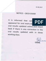 Deck Notice