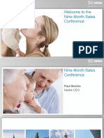 2013 Nine Month Sales Conference