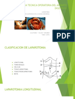Laparotomia Tecnica Operatoria Del Aparato Digestivo