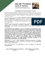 Junta de Vecinos Jesús de Nazaret Luis Antonio Columna Minaya y Yensy Minaya Quevedo