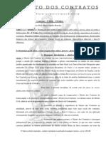 b) Linhas Gerais Do Direito Dos Contratos No Código Civil. Princípios Destacados