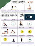 Secuencia yoga Específica  2017