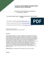 El Clima Organizacional en Universidades de Bogotá Desde La Perspectiva de Los Estudiantes1