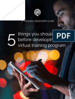 Knowledge Anywhere 5 Things You Should Do Before Developing a Virtual Training Program