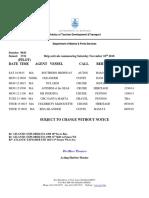 Weekly Shipping November 10 2018