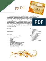 fall newsletter student teaching
