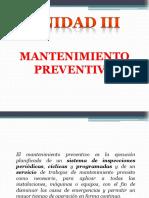 Unidad III Mantenimiento Preventivo