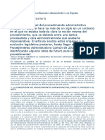 La codificación del Derecho Administrativo en España