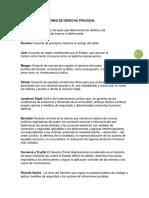 Definiciones de Derecho Procesal