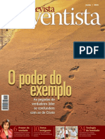 Adventista. O Poder Do Exemplo. Revista. as Pegadas Do Verdadeiro Líder Se Confundem Com as de Cristo