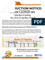 S-Line Shutdown Poster
