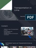 Public Transportation in LIma