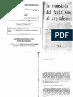 13 - AAVV Sweezy Dobb-Transicion Del Feudalismo Al Capitalismo (26 Copias)