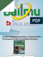 Bab 1 Pembangunan Dan Pertumbuhan EKonomi - Copy