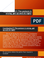 Constipation!!! the Posture is Wrong, Get Up and Sit Right