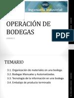 Operación de Bodegas