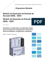 WEG Sca06 Ees1 Modulo de Expansao de Entrada de Encoder Hdsl 10002006418 Guia de Instalacao Portugues Br