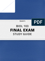 BIOL 103- Final Exam Guide - Comprehensive Notes for the Exam ( 258 Pages Long!)-2