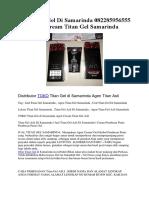 Jual Titan Gel Di Samarinda 082285956555 Agen Cream Titan Gel Samarinda