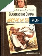 Cuadernos de Campo 12 F R de La Fuente Aves de La Estepa Marin 1978