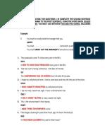 Answer Key - Key Word Transformation